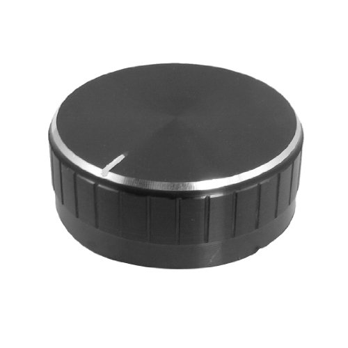 Uxcell a12073000ux0326 Replacement 48 mm x 18 mm PU Interior Black Aluminum Knob for (Round Control Knob)