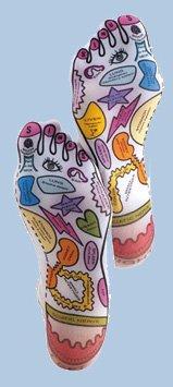 Pétrir la base Sox Réflexologie - Chaussettes Formulaire de pied de montage pour Massage Therapy