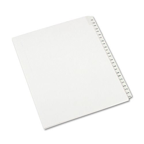Avery Collated Legal Exhibit Dividers, Allstate Style, 151-175, Side Tab, 8.5 x 11 Inches, 1 Set ()