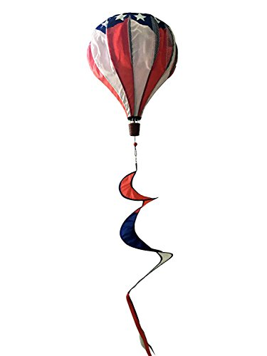 Briarwood Lane Patriotic Deluxe Hot Air Balloon Wind Twister Everyday 54