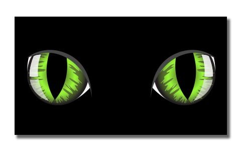 Green Eyes on Black Vinyl Sticker - Car Phone Helmet - SELECT - Venue Skateboards