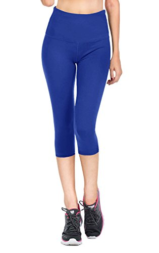 Royal Blue Womens Capris (VIV Collection Signature Capri Leggings Soft and Strong Tension (S, Royal Blue))