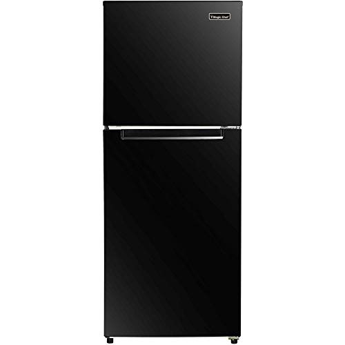 Magic Chef 10.1 Cu. Ft. Refrigerator with Top-Mount Freezer in Black