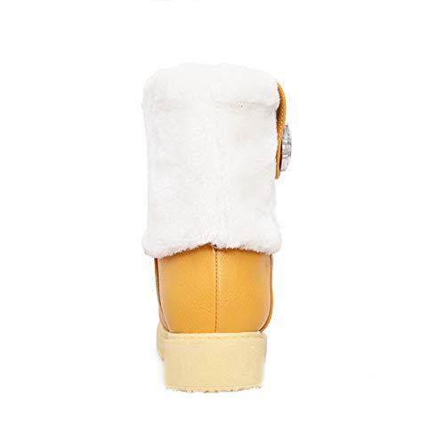 Assortito Assortito AgooLar Giallo Giallo Tirare Bassa Stivali Donna GMMXB019802 Basso Colore Tacco Altezza 7qfxFRwSqI
