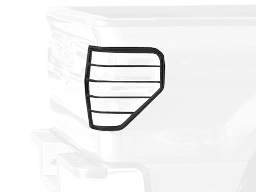 Tyger Custom Fit 09-14 Ford F150 2pcs Black Taillight Covers Tail Light Guards (Mounting Hardware & Instruction Included)