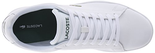 Lacoste Men's Carnaby EVO LCR Casual Shoe Fashion Sneaker, White, 13 M US