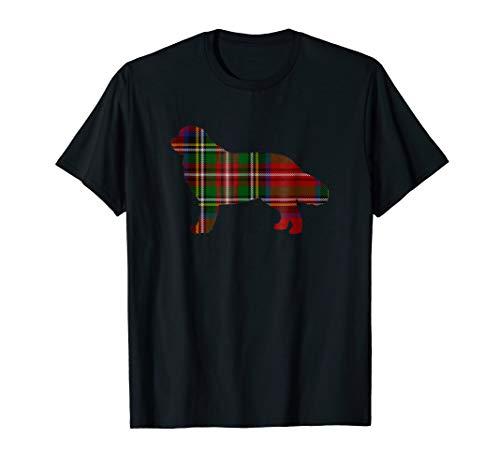 Tartan Newfoundland (Newfoundland Christmas Red Plaid T-Shirt Scottish Tartan)