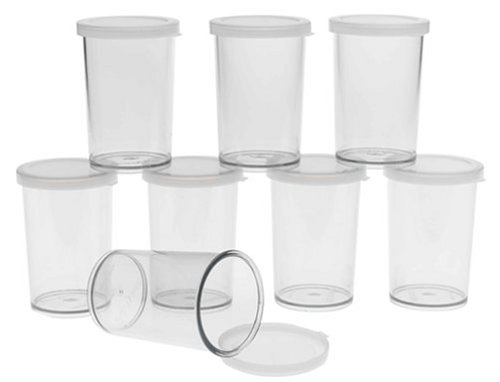 Cuisipro 837420 Donvier Yogurt Maker Jars Set of 8, Clear