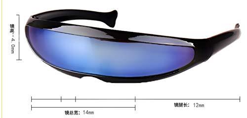 Space Robot Siamese Mercury Lens occhiali da sole 1 Black Frame Wiwi.f X-Men Occhiali da sole personali Color
