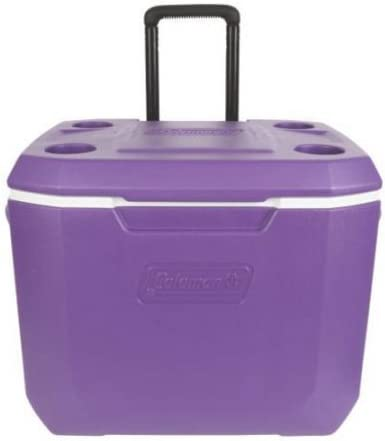 Coleman 50qt Outdoor Camping Wheeled Coolers – Purple