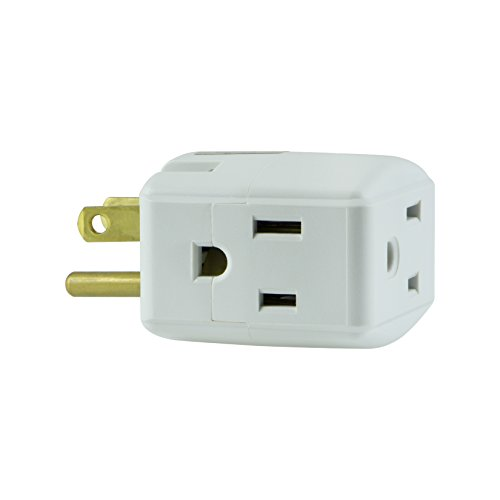 GE Grounded 3-Outlet Tap, 58368 - Two Outlet