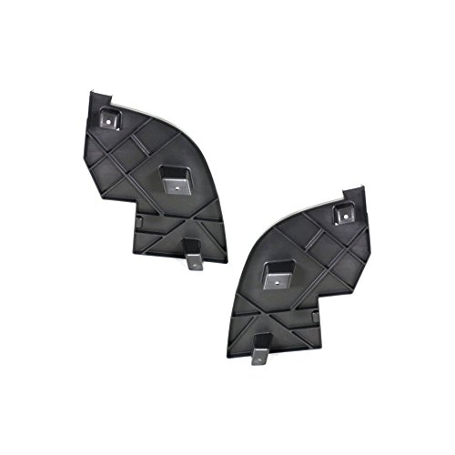 (Bumper Filler compatible with Cadillac Escalade 07-14 Front Right and Left Side Set of 2 Outer)