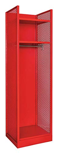 (Red Galvanneal Steel Gear Locker, Assembled, (1) Wide, (1) Tier, Opening Width: 22