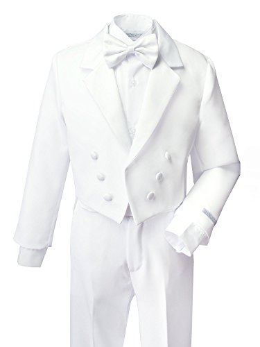Spring Notion Boys' White Classic Tuxedo with Tail 8