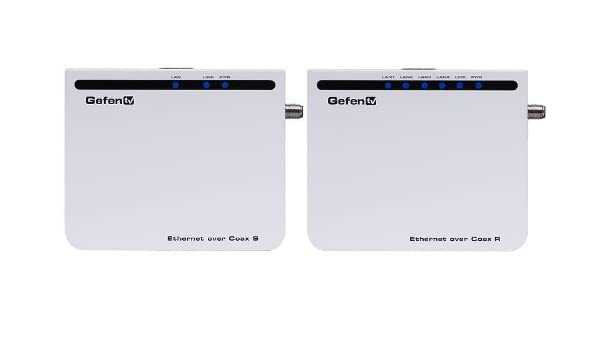 Gefen GTV-ETH-2-COAX adaptador de cable RJ-45 Plata: Amazon.es: Electrónica