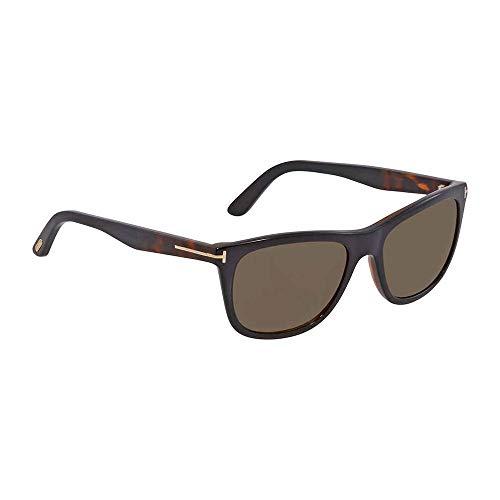 Tom Ford FT0500 05J Black Dark Havana Andrew Square Sunglasses Lens Category 3 ()