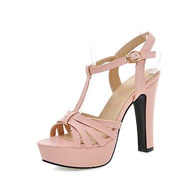 LvYuan Mujer-Tacón Stiletto-Confort-Sandalias-Oficina y Trabajo Informal Fiesta y Noche-Semicuero-Negro Rosa Beige Pink