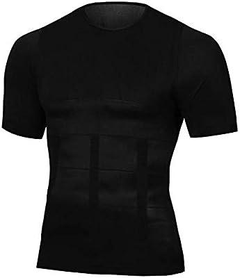 QQA Hombres Adelgazante Faja Reductora Chaleco Escondido Camisa de ginecomastia Camiseta sin Mangas,L: Amazon.es: Hogar