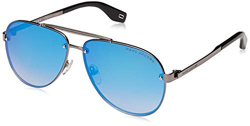 Marc Jacobs Marc 317/S 6LB KM Ruthenium Metal Aviator Sunglasses Blue Mirror Lens