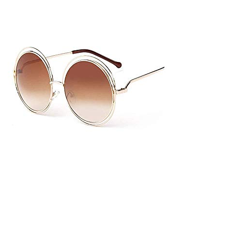 6310c14d2ce Shopers Variety Women s Big Round Oversized Double Wire Rim Mirror  Sunglasses with Metal Frame Retro Vintage