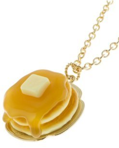 [Q pot maple syrup pancake necklace New] (Vintage Costume Jewelry Images)