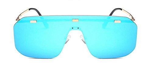 de polarisées style vintage du inspirées métallique retro Bleu Film cercle rond soleil Lennon lunettes en Zxq1BwZ