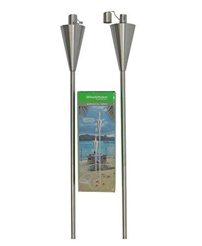 Easygo 2 Pack Tiki Torch Outdoor Garden Oil Lamp Lanterns
