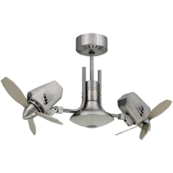 Troposair mustang ii 18 inch dual motor oscillating ceiling fan troposair mustang ii 18 inch dual motor oscillating ceiling fan brushed aluminum aloadofball Image collections