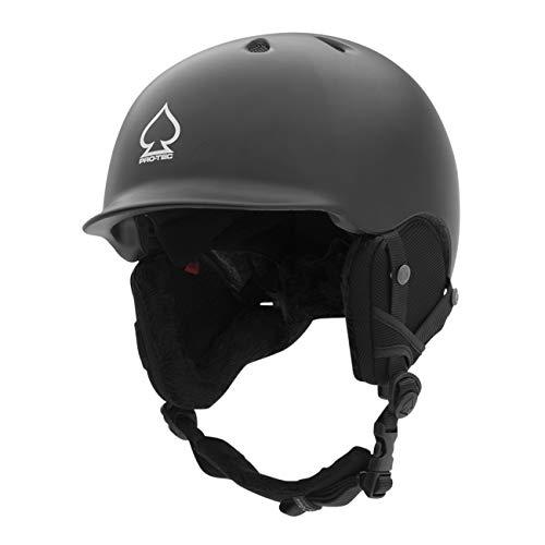 Pro-Tec Volcom Matte Black Riot Snowboard Helmet (M, Black)