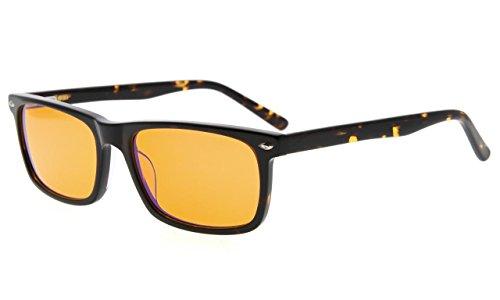 Eyekepper Blue Light Blocking Computer Glasses-Acetate Frame Better Sleep Eyeglasses Men Women (Tortoise, - Frame Glasses Acetate