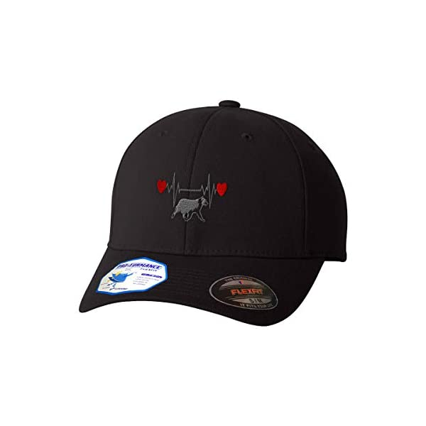 Flexfit Hats for Men & Women Dog Border Collie Lifeline Embroidery Polyester 1