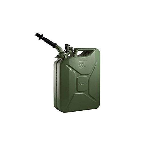 Wavian USA JC0020KVS Green Authentic NATO Jerry Fuel Can and Spout System (20 Liter) by Wavian USA