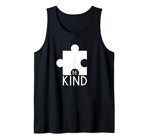 Autism Awareness Kind Toy Large Puzzle Piece Graphic Gift  Tank - Piece Tank Puzzle