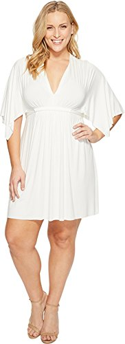 Rachel Pally Women's Plus Size Mini Caftan Dress White Dress by Rachel Pally