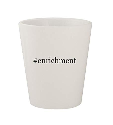 #enrichment - Ceramic White Hashtag 1.5oz Shot Glass