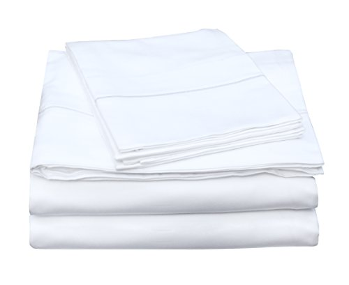 Certified Organic Cotton Cover (One Park Linens Organic Cotton Sheet Set, GOTS Certified – Eco Friendly, 400 Thread Count, Incredibly Soft and Luxurious Sateen Sheets – King, White)