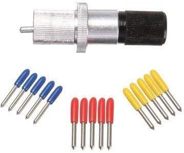Zeagro - Cuchilla cortadora de Vinilo de 30/45/60 Grados y Soporte de Cuchilla para cortadora de Papel Roland (15 Unidades): Amazon.es: Hogar