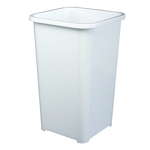 Knape & Vogt QT27PB-W Replacement Trash Can, 17.81-Inch by 10.65-Inch by - Bin Plastic Replacement