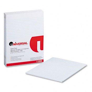 Universal® Ruled Writing Pads PAD,W RULD,PADDED,LTR,WE (Pack of8) by UNVSL