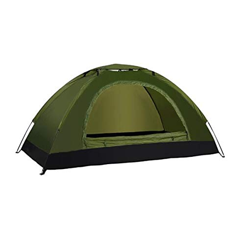 Hengxiang Camping Tent, Outdoor 1-2 Person Windproof and Rainproof Tent, Detachable Breathable Sun Shelters Tent, Army Green Outdoor Sports Tent Camping Sun Shelters