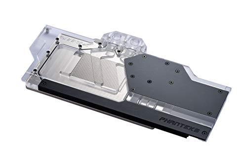 Phanteks Glacier G2080Ti Strix GPU Full Waterblock for Asus ROG Strix RTX 2080/2080Ti - Nickel-Plated, Acrylic, Addressable RGB – Black (PH-GB2080TiAS_BK01)