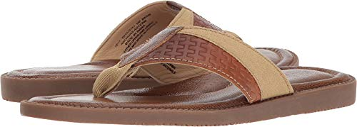 Leather Sandals Aster - Tommy Bahama Men's Anchors Astern Tan 11 D US