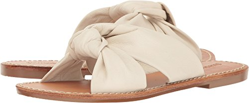 Soludos Women's Knotted Slide Sandal Flat, Ivory, 6 M US