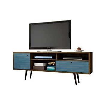 7a605ab08a392 Manhattan Comfort Liberty Collection Mid Century Modern TV Stand With Three  Shelves
