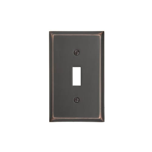 Emtek 29111 4-5/8'' x 2-7/8'' Single Toggle Colonial Style Forged Brass Switch Pla, Oil Rubbed Bronze