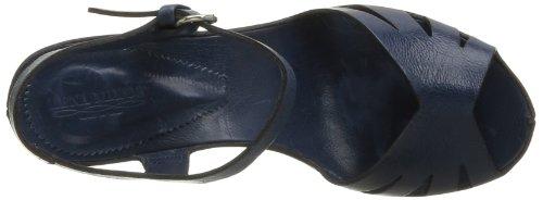 Lena Milos T2921 - Sandalias de Vestir de cuero mujer azul - Bleu (Pelle Glace Blu)