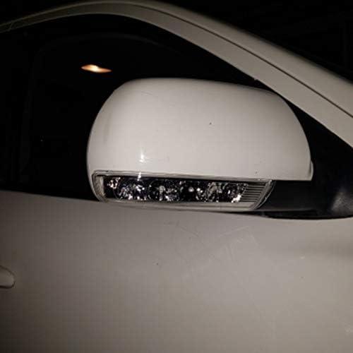 Nrpfell Specchio Retrovisore Laterale LED Indicatori di Direzione 876133J000 876233J00 per Santa Fe Santafe Veracruz IX55 2007-2012