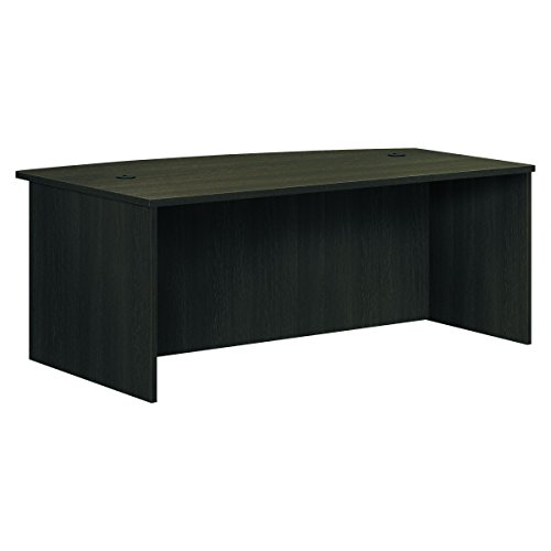 HON BL Laminate Series Office Desk Shell - Bow Front Top Desk Shell, 72w x 42d x 29h, Espresso (HBL2111) -