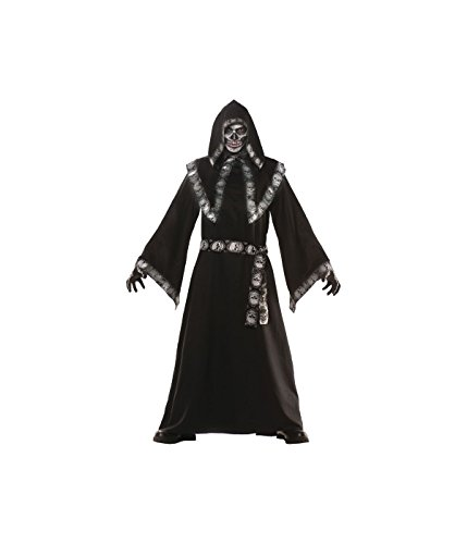 [Skull Master Costume - Teen, Multicolor] (Mens Halloween Costume Ideas Last Minutes)