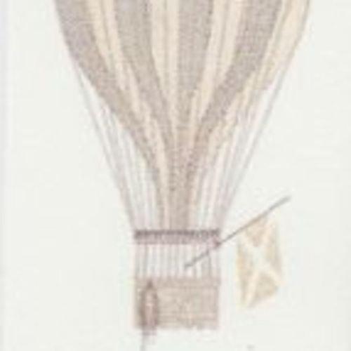 19141109 - Jules et Julie Beige Hot Air Ballon Casadeco Wallpaper Mural by Casadeco